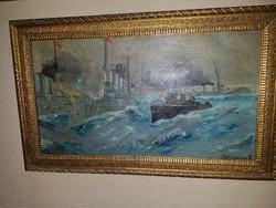 Schieszer Károly  /1800-as évek/ I.Világháborús csatahajók