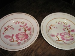 Csodaszép vintage virágos régi Kispesti Gránit fali tányér