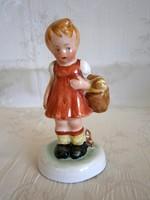 Bodrogkeresztúri kerámia: nagyon ritka Piroska kislány kosárral