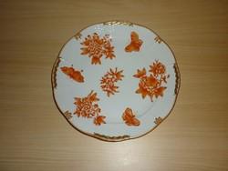 Herendi narancs Viktória mintás tányér! HIBÁTLAN