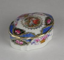 0W424 Régi jelenetes Altwien porcelán bonbonier