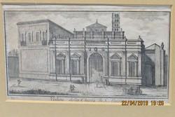 18.századi rézmetszet, szignó Gio. Cassini: 'Veduta della Chiesa di S. Aleisia'