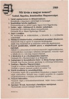 Propaganda szórólap - 1989