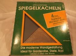 Üveg - 4 db - tükörcsembe - bronz színű - csiszolt szélű  - 4 db - 30 x 30 x 21.2 cm - hibátlan
