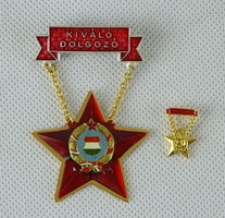 0W422 Szocreál Kiváló dolgozó kitüntetés