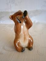 Nagyon ritka Bodrogkeresztúri kerámia szégyenlős maci medve bocs