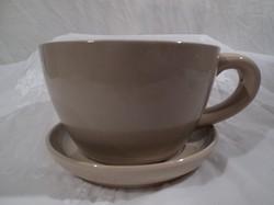 Csésze - porcelán óriás csésze - tányér egyben formázva  -1 kg, 20 dkg- 22 x 20 x 11 cm - hibátlan