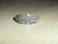 Díszes mint. Régi Tibeti ezüst gyűrű 8-as