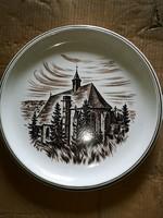 Ulmer keramik hatalmas dísztányér 32 átm