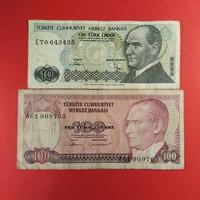 Törökország 10-100 líra 1970 Ritkább NSZ