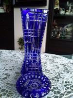 Álomszép kék kristály váza és hamutartó együtt!