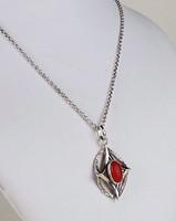 KORALL köves ezüst nyaklánc