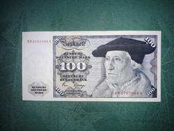 Németország NSZK 100 márka 1980. - Ropogós kemény papír, hajtott bankjegy.