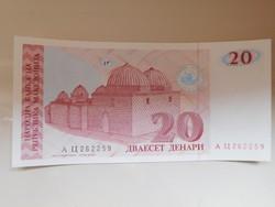 Macedónia  20 dinár 1993 Ritka!  UNC