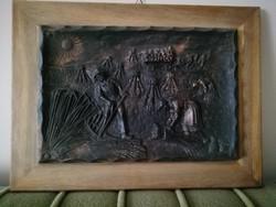 Aratás kép fa keretben