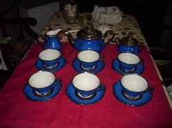 Kobald 6 személyes  kék teás készlet.