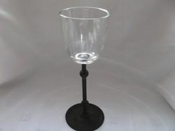 Vas és üveg gyertyatartó
