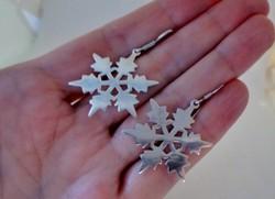 Különleges ezüst hópehely fülbevaló