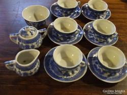 Vitrindísz, babaház kellék:régi  kínai mintás gyerek, baba teáskészlet