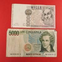 Olaszország 1000-5000 líra 1982-85 NSZ