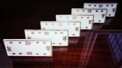 6db 1940-es Ó Herendi porcelán ültetőkártya