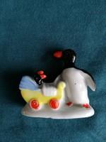 Wagner & Apel porcelán pingvinmama