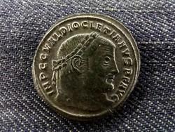 Diocletianus ezüstözött Follis 298-299 GENIO POPVLI ROMANI/id 8461/