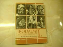 Irodalmi szöveggyűjtemény a középiskolák I. osztály számára