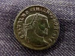 Maximianus ezüstözött Follis Thesszaloniki 300 GENIO POPVLI ROMANI/id 8463/