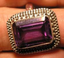 925 ezüst gyűrű, 18,7/58,7 mm, színváltó ametiszttel