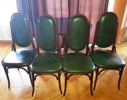 Thonet garnitúra, 4 db szék és nagyméretű kerek asztal együtt