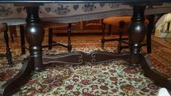 Ebédlőasztal kárpitozott 6db székkel