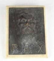 0W491 Régi bronz relief dombormű LÁNDORI