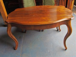 Antik Barokk asztal + 4 db szék