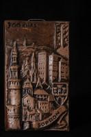 Terrakotta fali dísz Sopron 700 éves évforduló