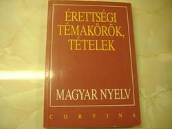 Érettségi Témakörök, Tételek Magyar Nyelv, 1997