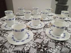 Csodaszép limoges-i porcelán csészék alátéttel