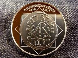 A magyar nemzet pénzérméi - A bányászok pénze, színezüst/id 8505/