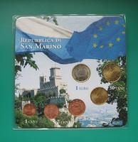 San Marino - vegyes évszámú euro sor - 6 db-os