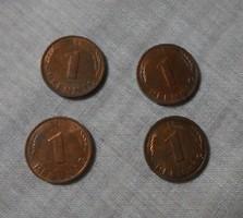 Német pénz - érme, 1 Pfennig (NSZK, 1987-1988)