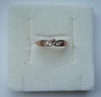Filigrán 14 karátos arany gyűrű /mesterjelzett 585/