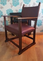 Antik Adolf Loos Fireside karosszék, armchair