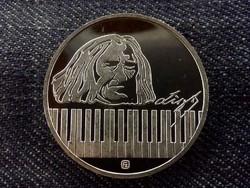 Liszt Ferenc .925 ezüstérem PP/id 8483/