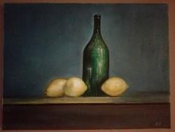 Csendélet citromokkal c. olajfestmény
