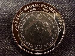 A magyar nemzet pénzérméi - Az első magyar feliratú pénz, színezüst/id 8506/