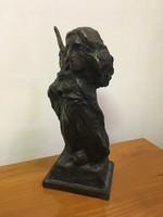 Kárpáti Tamás bronzszobor