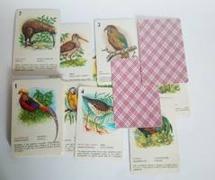 Retró madaras kártya, 1980