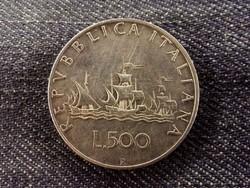 Olasz ezüst 500 Líra 1958 R/id 8481/