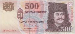 500 Forint 2006 EB - VF+ (Alacsony sorszám)