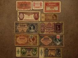 11 db történelmi bankjegy/id 8549/